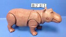 (B281) playmobil hippopotame marron  zoo savane