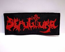 sepultura red logo   EMBROIDERED PATCH