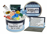 DAD - DADDY TO BE SURVIVAL KIT IN A CAN. New Parent/Baby Shower Gift & Card