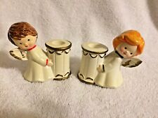 Pair Angel Children Christmas Candle Holders Ghc Korea