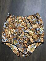 Granny Vanity Fair Tricot Panties Nylon Double Mushroom Gusset 50s Size 7 Vinta