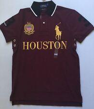 5cd2a675 Ralph Lauren Men's Houston Polo Shirt Number 3 Custom Slim Fit Maroon Size L