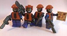 original LEGO PARTS - Batman Theme - 4 TWO FACE HENCHMEN + custom guns