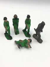 vintage lot lead army (5) soldier toys #385