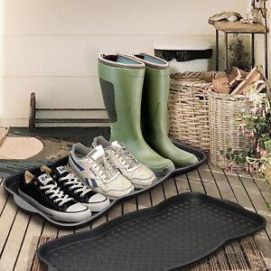 Multi Purpose Plastic Shoe Tray Wellies Boots Garden Plants Pet Home Door Tray