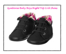 *NEW* GYMBOREE BABY BOYS SIZE 2 HOOT AND HOP BLACK HIGH TOP CRIB SHOES INFANT