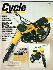 CYCLE MAGAZINE Dec. 1975 SUZUKI RM250 Kawasaki KH400 TOP TEN TEST BIKES