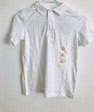 Cat & Jack Boys Short Sleeve Polo Top School Uniform White Size S 6/7 Nwt