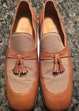 Bally Leather Loafers Tan Men's US 11 VEUC $495
