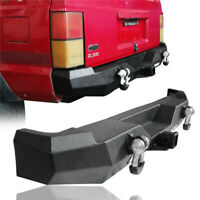 Rear Bumper w/ 2x18W LED Floodlights Textured Black for Jeep Cherokee XJ 84-01
