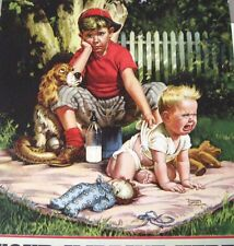 "1951 Sample Ad Calendar -Print by ""Frances Tipton Hunter"" Titled ""Baby Sitter"" *"