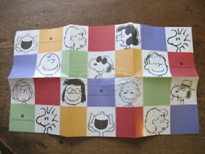 Retro Peanuts Snoopy Charlie Brown Wrapping Paper Sheet - Collins Publishers