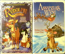 * ANIMATED CHRISTMAS VHS ANNABELLE'S WISH & RUDOLPH RED NOSED REINDEER THE MOVIE
