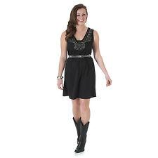Wrangler Womens Western Black Scoop Neck Sleeveless Dress - L - LJD755X