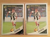 (2 LOT) 2018-19 PANINI DONRUSS SOCCER PRESS PROOF SILVER PAULO DYBALA JUVENTUS