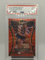 2019-20 Panini Select Zion Williamson Red Wave #199 RC Rookie PSA 9 MINT 🔥📈SSP