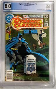 DYNAMIC CLASSICS #1 PGX 8.0 KEY BATMAN ISSUE BRONZE AGE NEWSSTAND NOT CGC CBCS