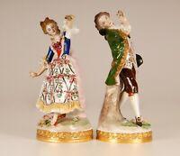 Sitzendorf markiert porzellan figure tanzerin spitzekleid Volkstedter Dresden