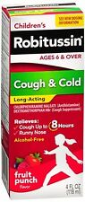 Robitussin Childrens Cough - Cold Long-Acting Liquid Fruit Punch 4 oz (2 pack)