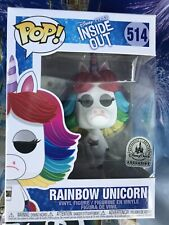 Funko Pop Disney Parks Exclusive Pixar Inside Out Rainbow Unicorn #514 New