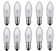 10PCS E10 LED replacement bulbs top candle for fairy Light Bulbs lamp 10-55V Hot