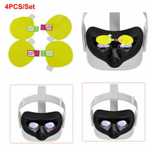 4PCS Lens Protective Film VR Screen Protector Film for Oculus Quest 2 VR Glasses
