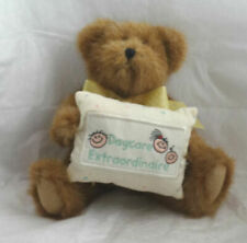 Boyds Bear Miss Caresforall Poseable Brown Bear with Pillow, Retired New