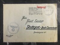 1942 Stuttgart Germany Commercial Cover Domestic Used