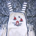 *VINTAGE* Baby Dior. Rare Dior overall one-piece. Sail boats, red, white, & blue