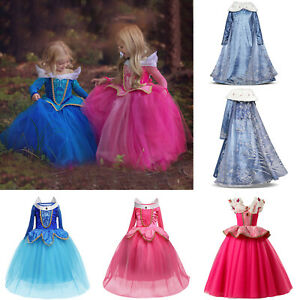Kids Girls Disney Princess Costume Fancy Dress Cosplay Party Halloween Clothes