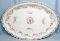 Orleans Platter Z S & Co Bavaria Pink Roses Gold Flowers Porcelain Vintage ZSC32
