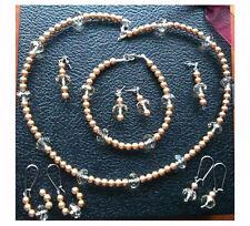 Handmade Pearl Crystal Costume Necklaces & Pendants