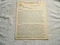 March 25, 1903 Pere Marquette Railroad Co. Letterhead 3 Page Theft Letter - NR