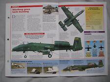Aircraft of the World Card 15 , G 7 - Fairchild A-10 Thunderbolt II Tank-Busting