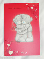 VALENTINE CARD ME TO YOU TATTY TEDDY ONE I LOVE ON VALENTINES DAY CARD GENERAL