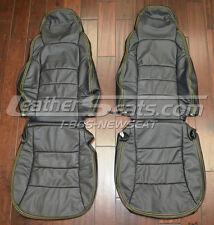 2005 - 2011 Chevrolet Corvette Custom Black Leather Seat Upholstery Covers