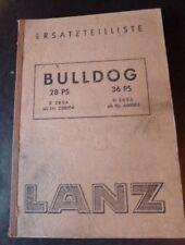 Lanz Bulldog D2806 + D3606 Ersatzteilliste