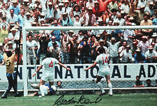 GORDON BANKS Signed In Person 12x8 Photo WORLD CUP 1966 PELE Save COA