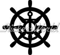 Boat STEERING WHEEL Sailing Yacht, Ship - Vinyl Sticker Decal