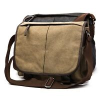 Simple Military Canvas Messenger Bag Shoulder Crossbody Medic Unisex Mens Womens