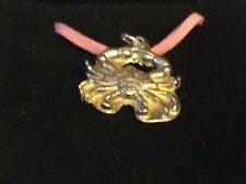 """Crab TG299 English Pewter On a 18"""" Pink Cord Necklace"""
