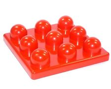 Lego Duplo Primo Plate 3x3 Nubs in Red Building Plate