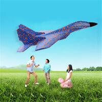 Juguetes regalo niños aviones lanzamiento al aire libre espuma a mano de espuma