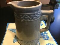 Red Wing Stoneware CHFRRY BAND`The Photos Show Red Wing Made Cherry Band Pitcher