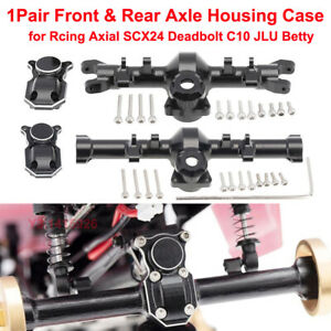 1Pair For Axial SCX24 Deadbolt C10 JLU Betty Front and Rear Axle Housing CaseNew