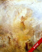 ANGEL STANDING IN THE GOLDEN SUN PAINTING CHRISTIAN ART REAL CANVAS PRINT