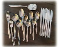 CHOICE Mid-Century Mar-Crest CITATION Spoons Knives ATOMIC STARBURST Space Age