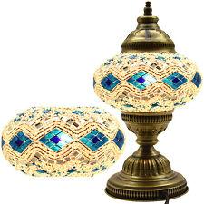 GRAND 2016 Turque Marocain Mosaïque Table Chevet Bureau Tiffany Lampe Brun Clair