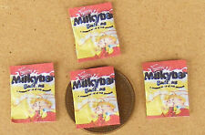 1:12 Scale 4 Milky Bar Buttons Packets Tumdee Dolls House Miniature Sweets