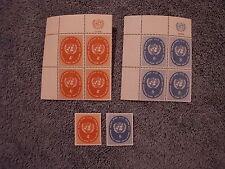 1958 Definitives Inscription Blocks and Singles Set - N63-64 - MNH